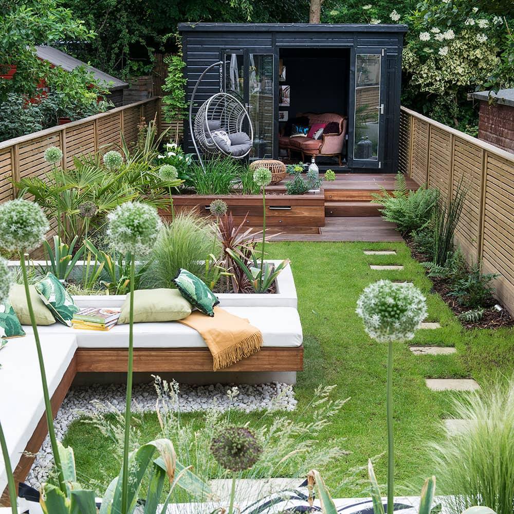 Un jardin au style moderne