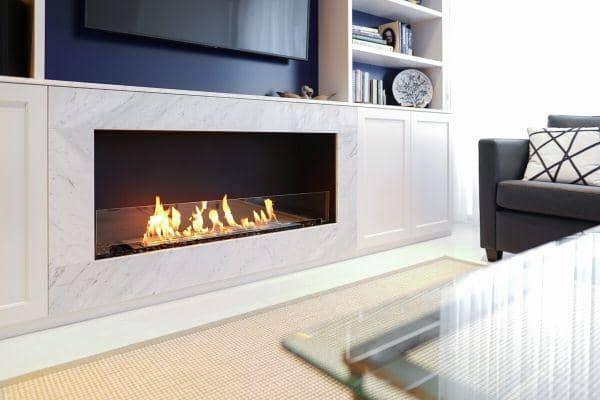 chauffage avec cheminée au bioéthanol
