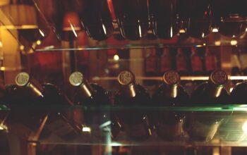 Conservation du vin vitrine