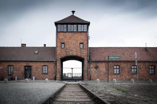 Le camp de concentration d'Auschwitz, en Pologne