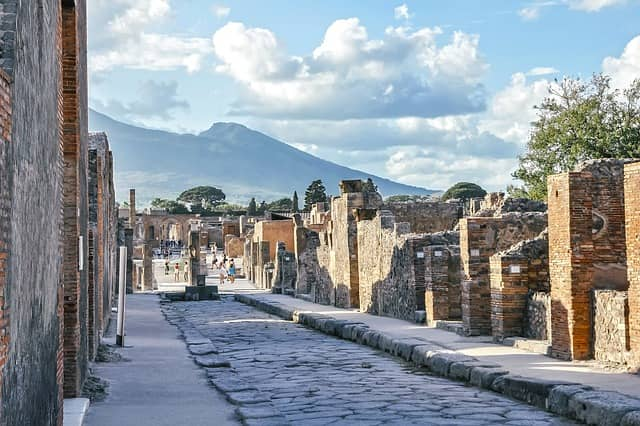 La ville de Pompéi, en Italie
